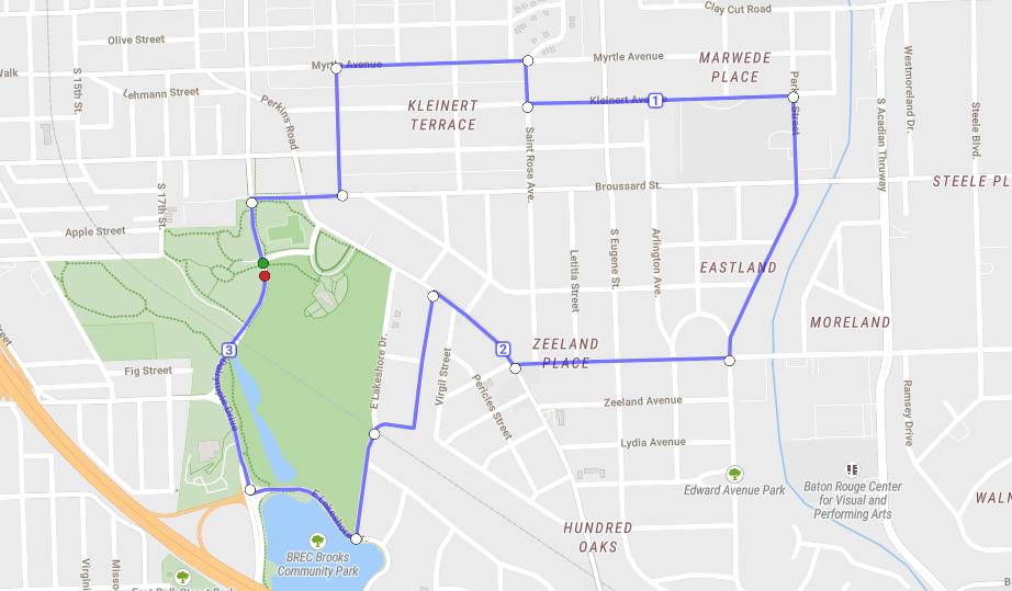 Garden District 5K Map