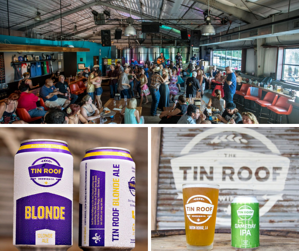 Tin Roof Austin Garden Brewing Co Collage